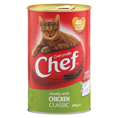 Chef Classic Chicken Cat Food - 690g
