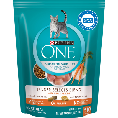 Purina ONE Tender Selects Blend Chicken Adult Cat Food - 510g