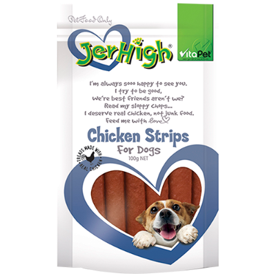 VitaPet Jerhigh Chicken Strips For Dogs - 100g